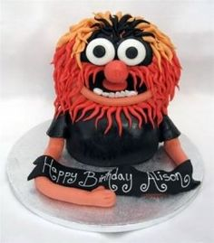 animal from the muppets birthday cake from sugarlicious ltd Animal Birthday Cakes, Cupcake Birthday Cake, Cupcake Cakes, Cupcake Ideas, Fancy Cakes, Cute Cakes, Animal Muppet, Die Muppets, Sesame Street Cake