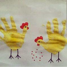 handprint hen craft
