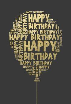 Happy Birthday Wishes For Him, Birthday Wishes Quotes, Happy Birthday Balloons, Happy Birthday Gifts, Happy Birthday Greetings, Your Birthday, 60 Birthday Card, Diy Birthday Messages, Birthday Card With Photo