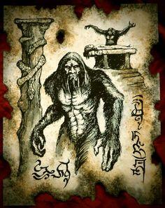 Cthulhu's Necronomicon Servants of Bit Yakin Necronomicon Lovecraft, Call Of Cthulhu Rpg, Satanic Art, Dark Artwork, Arte Obscura, Spirited Art, Demonology, Necromancer, Fantasy Inspiration