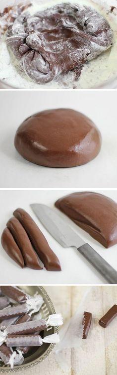 Homemade Tootsie Rolls .... Link ... http://food52.com/blog/4717-homemade-tootsie-rolls