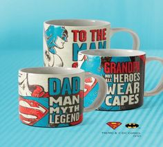 Super Hero Mugs- $5.95 w/ purchase of 3 Hallmark Cards