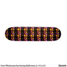 Cute Wholesome bee having Halloween Skateboard Skateboards For Sale, Cute Unicorn, Halloween Night, Artwork Design, Halloween Pumpkins, Ufo, Hard Rock, Printing Process, Halloween Gourds