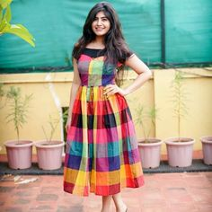 Get the ultimate guide on how to create your own designer saree blouses, with all the tops you have in your closet. Get the latest on saree drapes and new styles. Long Dress Design, Dress Neck Designs, Kurti Neck Designs, Kurta Designs Women, Salwar Designs, Frock Dress, Saree Dress, Long Gown Dress, Casual Frocks