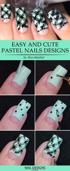Super Easy Nail Designs DIY Tutorials ★ See more: https://naildesignsjournal.com/easy-nail-designs/ #nails
