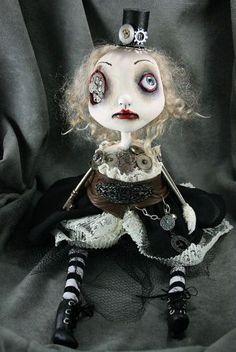 Steampunk gothic doll