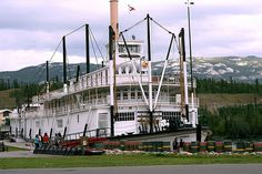 "From Wiki: ""SS Klondike was the name of two sternwheelers, the second now a national historic site located in Whitehorse, Yukon, Canada. Both ran freight between Whitehorse and Dawson City along the Yukon River from 1929-1936 and 1937-1950, respectively.""  This image is of Klondike II"