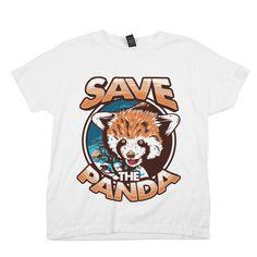 Save the Panda Shirt White Kid