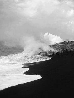 Black Sand, White Sand Beach, Punaluu Beach, All Nature, Photoshop, Ocean Waves, Big Waves, Hawaii Travel, Landscape Photography