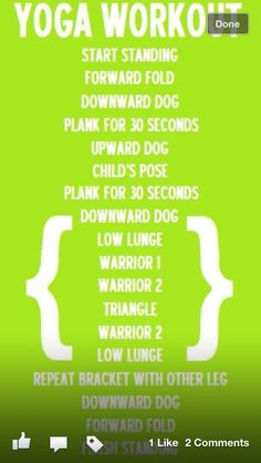 Yoga workout -  This is great!! Thank you
