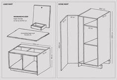 DIY: waskast voor wasmachine en droger. Zo maak je hem zelf | vtwonen Utility Room Storage, Closet Storage, Plywood Kitchen, Laundry Solutions, Laundry Room Layouts, Laundry Room Inspiration, Dream House Interior, Modern Shelving, Flat Ideas