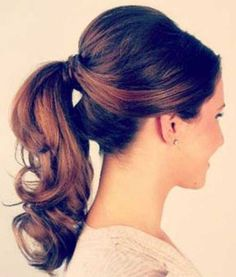 Elegant Ponytail Hairstyle with Wavy Ends
