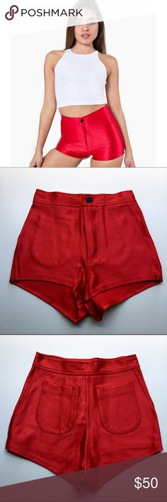 Red American Apparel disco shorts Discounted Bundles ▪️Please use the offer feature  ▪️Ships within 24 hours ✈️ ▪️No tradesNo Paypal ▪️ Love the item but not the price?  Make an offer!  ▪️Questions?  Don't be shy!  Feel free to ask  ▪️Condition - NWOT ▪️Size - XXS ▪Description - Brand new never worn red American Apparel disco shorts American Apparel Shorts