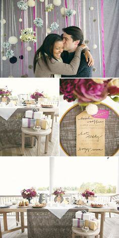 Grey isn't normally a colour that screams weddings, but teamed with fuschia it looks oh-so modern.