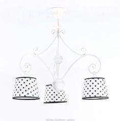 Żyrandol ADARA WHITE #żyrandol #ojalmpy #abażur