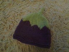 Plum baby hat