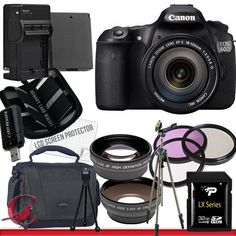 Canon EOS 60D DSLR Camera with Canon EF-S 18-135mm f/3.5-5.6 IS Lens Kit Package 6 by Canon. $1119.89. Package Contents:  1- Canon EOS 60D DSLR Camera with Canon EF-S 18-135mm f/3.5-5.6 IS Lens Kit With all supplied accessories 1- 32GB SDHC Class 10 Memory Card 1- Rapid External Ac/Dc Charger Kit   1- USB Memory Card Reader  1- Rechargeable Lithium Ion Replacement Battery  1- Weather Resistant Carrying Case w/Strap  1- Pack of LCD Screen Protectors  1- Camera & Lens Cle...