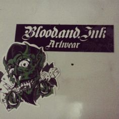 Blood and ink artwear stickers