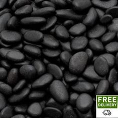 Give your landscaping a unique and professional appearance with the help of this Rain Forest Mini Black Grade A Polished Pebbles.