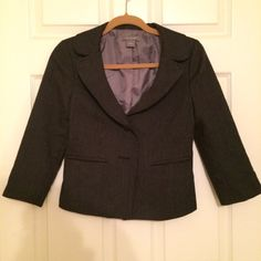 Ann Taylor Black/Grey Blazer 3/4  sleeves. 2 buttons. Almost new. Shows no sign of wear. Ann Taylor Jackets & Coats Blazers
