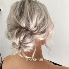 How to Style SHORT HAIR by @kykhair  Hudabeauty Pulled Back Low Bun