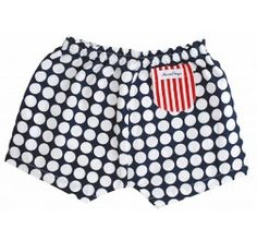 Alimrose Polka Nappy Cover - Large Dots Design, Casual Shorts, Trunks, Polka Dots, Cover, Swimwear, Blue, Sweet, Fashion
