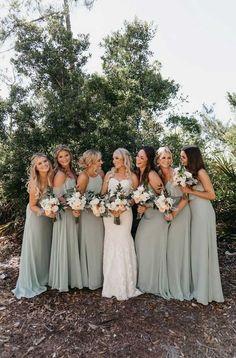 Bridesmaid Dresses Under 100, Mint Green Bridesmaid Dresses, Bridesmade Dresses, Dresses Dresses, Different Bridesmaid Dresses, Wedding Dresses For Bridesmaids, Burgundy Bridesmaid, Bridesmaid Ideas, Sage Dresses