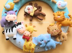 Felt animals....love their sweetness!~