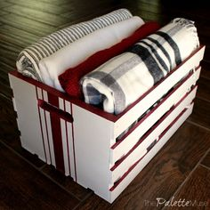 I was looking for a way to keep all my cozy blankets and special Christmas books handy for snuggling up with my kids during the holiday season, without them spr… Christmas Books, Christmas Projects, Christmas Holiday, Diy Christmas Decorations Easy, Holiday Decor, Seasonal Decor, Holiday Crafts, Holiday Ideas, Home Depot