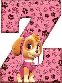 *✿**✿*Z*✿**✿*DE ALFABETO DECORATIVO Paw Patrol Birthday Girl, Paw Patrol Party, Alfabeto Animal, Cumple Paw Patrol, Alphabet For Kids, Get The Party Started, Wooden Letters, Scrapbook, Clipart