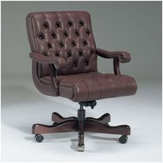 Triune Business Furniture Executive Chair Upholstery Color: Java, Frame Finish: Walnut, Tilt Mechanism: Included