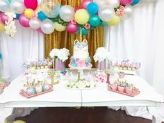 These Low Budget Baby Shower Ideas Won't Empty Your Wallet Fast! Baby Shower Desserts, Baby Shower Cakes, Baby Shower Themes, Baby Shower Decorations, Shower Ideas, Unicorn Baby Shower, Unicorn Party, Baby Boy Shower, Baby Showers