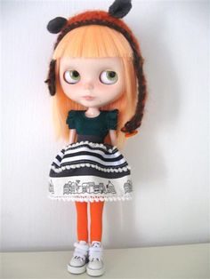 Blythe Doll Cute haloween colors