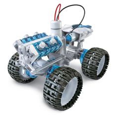 Amazing water powered 4 wheel drive monster truck from PowerPlus. This toy car is powered by salt water helps to educate children how to use alternative energy. Water Powered Car, Solar Powered Toys, Revere Pewter, Monster Car, Monster Trucks, 4x4, Fuel Cell Cars, Design3000, Discovery Toys