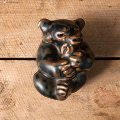 bear Royal Copenhagen figure pottery danish mid century scandinavian stoneware collectible figure