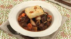 Beef Stew With Cheese Biscuits