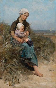 Mother Proud by Bernardus Johannes Blommers (Dutch 1845 - 1915)