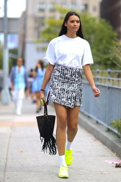 45 Street Style-Inspired Ways to Wear a Mini Skirt Through Fall | @StyleCaster