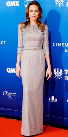 Modest Fashion--Angelina Jolie.  She is one of my style icons.  Always simple and elegant.
