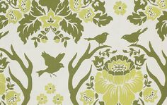 "Joel Dewberry Birch Farm Antler Damask in Sage FreeSpirit Designer Fabric Cotton Sateen 54/55"" BTY by JdawnsFabricsAndMore on Etsy"