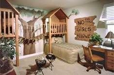 such a cute bedroom for boys