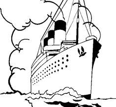 titanic coloring picture
