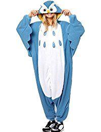 Blue Owl Animal Coral Fleece Cartoon Sleepwear For Men And Women Size M Halloween Karneval, Halloween Kostüm, Couple Halloween Costumes, Pilou Pilou, Cute Sleepwear, Owl Pet, Kids Pajamas, Pyjamas, Suits