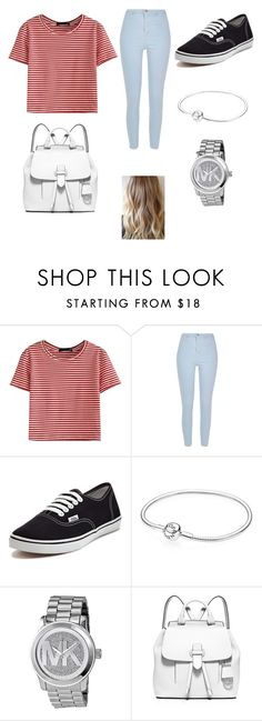 """""""Untitled #110"""" by sadiecoda on Polyvore featuring WithChic, River Island, Vans, Pandora, Michael Kors and MICHAEL Michael Kors"""