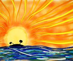 Sunset #cmt #draw #drawing #drawingoftheday #doodle #sketch #sketching #paint #digitalart #art #creativity #creative #paper53 #talentedpeopleinc #nature #landscape #sunset #sun #ocean #island #vacation #paradise by carloss_mt