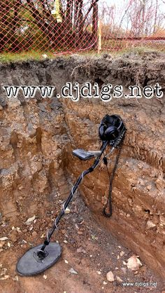 Layers of dirt date the property.  Metal detecting stories, finds & videos. #djdigs #metaldetecting