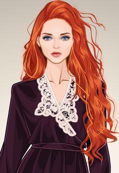 Women of Westeros Fan Art: Sansa Stark Selection Series, The Selection, Art Anime Fille, Maxon Schreave, My Champion, Game Of Thrones Art, Ginger Girls, Sansa Stark, Art Girl