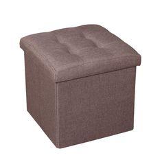 Felimoda Linen Folding Organizer Storage Ottoman Bench Cube Foot Stool Footrest Step Stool For Living Room  sc 1 st  Pinterest & HomCom 3 piece Tufted Microfiber Storage Bench / Cube Ottoman Set ...