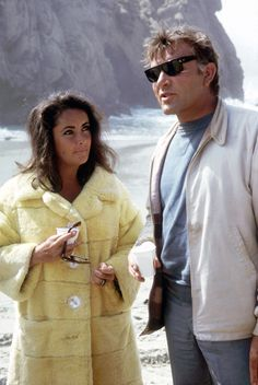 Elizabeth Taylor and Richard Burton in Puerto Vallarta, Mexico