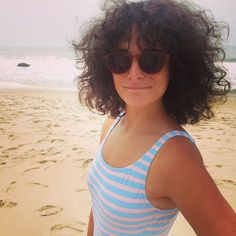 How to Wear Curly Bangs | Jenny Slate, Curly Bangs and Bangs
